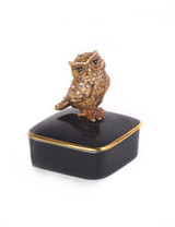 Jay Strongwater Seymour Natural Owl Porcelain Box MPN: SDH7365-280
