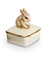 Jay Strongwater Lia Natural Bunny Porcelain Box MPN: SDH7364-280
