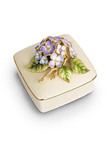 Jay Strongwater Shaye Flora Hydrangea Porcelain Box MPN: SDH7362-256