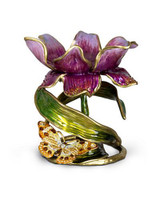 Jay Strongwater Aimee Flora Floral 7 Inch Pillar Candle Holder MPN: SDH2370-456