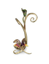 Jay Strongwater Mirabelle Flora Orchid Single Candlestick MPN: SDH2357-456