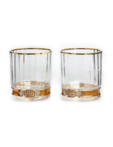 Jay Strongwater Hudson Amber Double Old Fashioned Glasses MPN: SDH2428-274