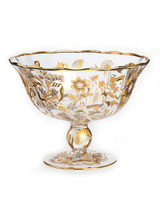 Jay Strongwater Adriana Platinum Floral Vine Bowl MPN: SDH2418-295