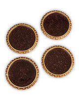 Jay Strongwater Bentley Amber Jeweled Edge Coasters Set of Four MPN: SDH2407-274