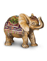 Jay Strongwater Colin Brocade Tapestry Elephant Figurine MPN: SDH1868-289