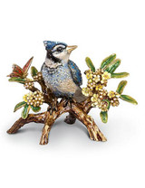 Jay Strongwater Andreson Natural Blue Jay On Branch Figurine MPN: SDH1859-280