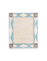 Jay Strongwater Alex Pale Blue Argyle 3 x 4 Inch Picture Frame MPN: SPF5829-625