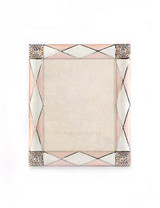Jay Strongwater Alex Pale Pink Argyle 3 x 4 Inch Picture Frame MPN: SPF5829-606