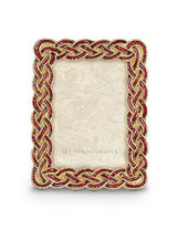 Jay Strongwater Aileen Bouquet Braided 3.5 x 5 Inch Picture Frame MPN: SPF5825-289