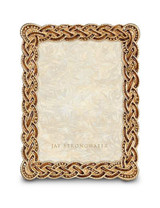 Jay Strongwater Belinda Amber Braided 5 x 7 Inch Picture Frame MPN: SPF5824-274