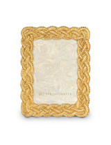 Jay Strongwater Conan Gold Braided 3.5 x 5 Inch Picture Frame MPN: SPF5822-292