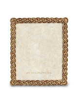 Jay Strongwater Aidan Amber Braided 8 x 10 Inch Picture Frame MPN: SPF5817-274