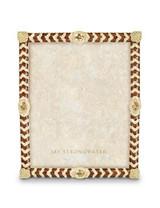 Jay Strongwater Alden Golden Crystal Chevron 8 x 10 Inch Picture Frame MPN: SPF5779-232