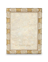 Jay Strongwater Pierce Golden Striped 5 x 7 Inch Picture Frame MPN: SPF5777-232