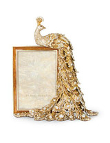 Jay Strongwater Alexi Golden Peacock 4 x 6 Inch Picture Frame MPN: SPF5758-232