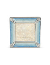 Jay Strongwater Leland Pale Blue Pave Corner 2 Inch Square Picture Frame MPN: SPF5130-225
