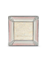 Jay Strongwater Leland Pale Pink Pave Corner 2 Inch Square Picture Frame MPN: SPF5130-206