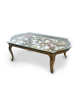 Jay Strongwater Everett Jewel Floral & Scroll Coffee Table MPN: SHW3299-450
