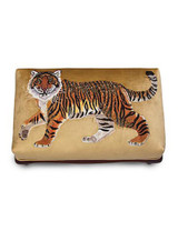 Jay Strongwater Desmond Natural Tiger Ottoman MPN: SHW3296-280