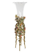 Jay Strongwater Madden Jewel Floral Standing Vase MPN: SHW3271-450