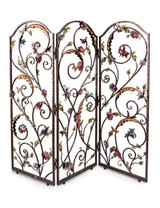 Jay Strongwater Celeste Jewel Floral Wall Screen MPN: SHW3255-450
