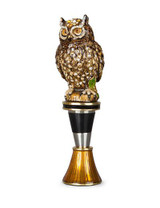 Jay Strongwater Hector Natural Owl Wine Stopper & Stand MPN: SDH6600-280
