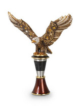 Jay Strongwater Nathaniel Natural Eagle Wine Stopper & Stand MPN: SDH2353-280