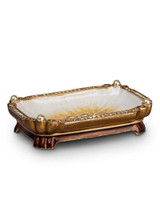 Jay Strongwater Ling Golden Mystic Knot Trinket Tray MPN: SDH1123-232