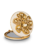 Jay Strongwater Elizabeth Golden Flower Jeweled Compact Mirror MPN: SCB8412-232