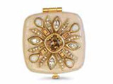 Jay Strongwater Schuyler Golden Maltese Bejeweled Compact Mirror MPN: SCB8411-232