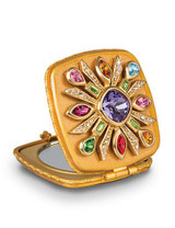 Jay Strongwater Schuyler Jewel Maltese Bejeweled Compact Mirror MPN: SCB8411-250