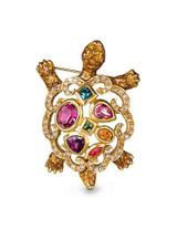 Jay Strongwater Jewel Large Turtle Scroll Pin MPN: SJ9262-250