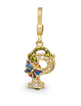 Jay Strongwater Flora P Charm MPN: SJ9222-256