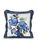 Jay Strongwater Delft Garden Magnolia Pillow MPN: ST4037-284
