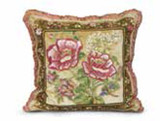 Jay Strongwater Rose Celadon Magnolia Pillow MPN: ST4037-272