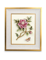 Jay Strongwater Giorgina Flora Peony Wall Art MPN: SHW3297-256