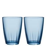 Kosta Boda Bruk Tumbler Water Blue Large Pair MPN: 7091613 EAN: 7321646023004