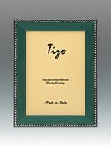 Tizo Zebra Corner Emerald Green Wood Picture Frame 8 x 10 Inch MPN: OBL20EM-80, MPN: OBL20EM-80