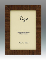 Tizo Brown Striped Wood Picture Frame 4 x 6 Inch MPN: 285BRN-46, MPN: 285BRN-46