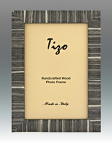 Tizo Gray Striped Wood Picture Frame 5 x 7 Inch MPN: 285GRY-57, MPN: 285GRY-57