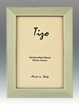 Tizo Shiny Striped Silvery Wooden Picture Frame 8 x 10 Inch MPN: 285SIL-80, MPN: 285SIL-80