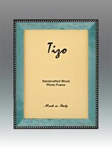 Tizo Zebra Corner Turquoise Wood Picture Frame 5 x 7 Inch MPN: OBL20TQ-57, MPN: OBL20TQ-57