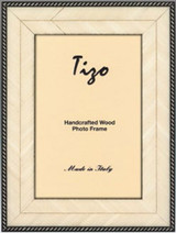 Tizo White Thin Zebars Wooden Picture Frame 4 x 6 Inch MPN: OBL30WHT-46