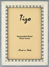 Tizo Baby Blue Zebra Wooden Picture Frame 5 x 7 Inch MPN: ER20BBL-46
