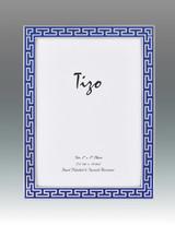 Tizo Blue Greek Key Enamel Picture Frame 5 x 7 Inch MPN: 6230BLU-57, MPN: 6230BLU-57
