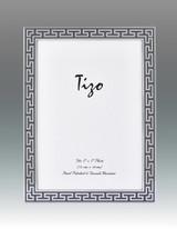 Tizo Grey Greek Key Enamel Picture Frame 4 x 6 Inch MPN: 6230GRY-46, MPN: 6230GRY-46