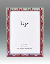 Tizo Red Greek Key Enamel Picture Frame 4 x 6 Inch MPN: 6230RED-46, MPN: 6230RED-46