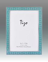 Tizo Turquoise Greek Key Enamel Picture Frame 4 x 6 Inch MPN: 6230TRQ-46, MPN: 6230TRQ-46