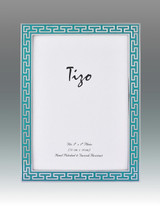 Tizo Turquoise Greek Key Enamel Picture Frame 8 x 10 Inch MPN: 6230TRQ-80, MPN: 6230TRQ-80