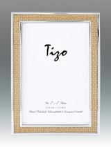 Tizo Shagreen Beige & Silver-plated Picture Frame 5 x 7 Inch MPN: 1030RAF-57, MPN: 1030RAF-57